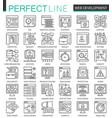 web development outline concept symbols perfect vector image vector image