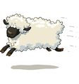 galloping sheep vector image