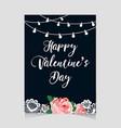 valentine s day vintage card vector image