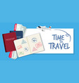 a time to travel icon vector image vector image
