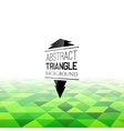 Abstract green triangle field perspetive pattern vector image