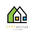 abstract houses for logo of construction or vector image vector image