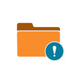 alert error folder note notice warning icon vector image