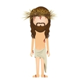 avatar jesus christ with crown of thorns vector image vector image