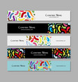 banners design colorful abstract background vector image