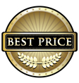 Best Price Gold Label vector image