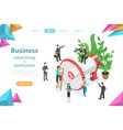 business advertising and promotion isometric flat vector image