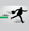 business man silhouette vector image vector image