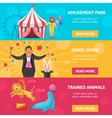 Circus Entertainment Banners Set vector image vector image