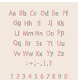 Classic Hand Drawn Alphabet Made in ABC vector image vector image