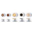coffee cup realistic hot ristretto espresso vector image vector image