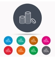 Coins icon Cash money sign vector image