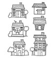 collection of house set hand draw vector image vector image