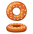 colorful cartoon german bagel vector image