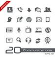 communications icon set - basics vector image vector image