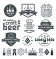 Craft beer brewery emblem vector image vector image