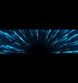 dark blue neon space starburst abstract background vector image