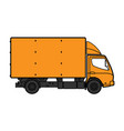 delivery box truck icon vector image