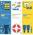 Diving Banner Flat Design Style vector image vector image