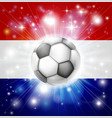 dutch soccer flag vector image vector image