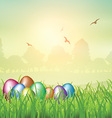 Easter egg backgroubnd vector image vector image