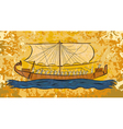 Egyptian papyrus boat fresco vector image