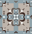 fair isle large scale brown beige blue white vector image vector image