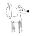 female fox cartoon with closed eyes expression in vector image vector image