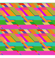 Flat colorful seamless pattern with skewed vector image vector image