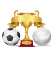 football trophy vector image vector image