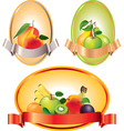 fruits labels vector image vector image