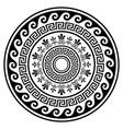 greek boho mandala design with key pattern vector image vector image