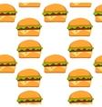 Hamburger pattern in flat vector image