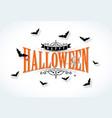 happy halloween with vector image vector image