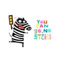 happy zebra with green traffic light vector image vector image
