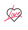 heart icon concept love isolated on white vector image