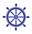 helm wheel on white background vector image vector image