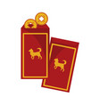 hongbao red envelopes gold graphic vector image vector image