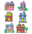house set design vector image vector image