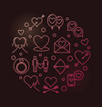 intimate relationship round colorful vector image vector image