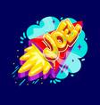 joel name rocket vector image vector image