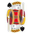 King of spades no card vector image