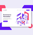 landing page template of ecommerce newsletter vector image