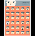 Little boy emoji icons vector image vector image