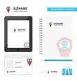 map navigation business logo tab app diary pvc vector image