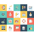 medical and healthcare flat icons vector image vector image