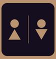 modern professional wc - toilet door plate vector image