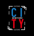 newyork district nyc print vector image