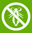 no louse sign icon green vector image vector image