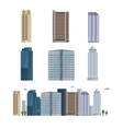 Office city building Downtown landscape skyline vector image vector image